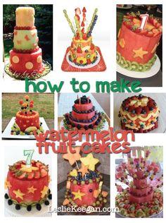 How to make a watermelon fruit cake  #LeslieKeegan