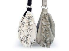Ruffle Linen Hobo Bags <3