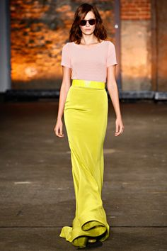 Chartreuse & Blush-Christian Siriano Spring 2012