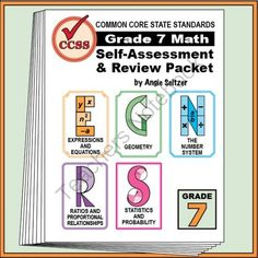 Grade 7 Self-Assessment and Review Packet for All 5 Math Domains from K-8 MathPaths on TeachersNotebook.com -  (16 pages)  - In just 11 pages, this packet shows goals/objectives related to ALL Common Core State Standards for Grade 7, along with at least one question for each goal. Domains include EE, G, NS, RP, and SP.