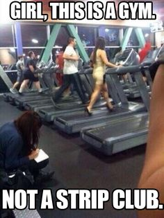 The gym is like a zoo filled with humans. They are human right?