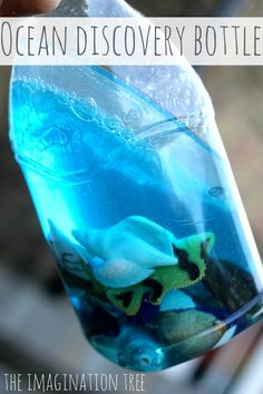 Make waves and large bubbles in an ocean themed discovery bottle. Great for long journeys too!