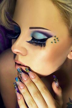 Crystal tattoos on pinterest swarovski crystals judi for Crystal eye tattoos