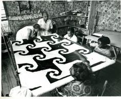 ...the New York Foundation's grant to the [Freedom Quilting Bee] Cooperative [in Alabama] was used towards the construction of a new sewing building, the Martin Luther King, Jr. Memorial Sewing Center. Prior to its construction, the quilters worked in small, cramped cabins such as the one pictured here. (Just Look At That Indiana Puzzle Quilt!) xxxx