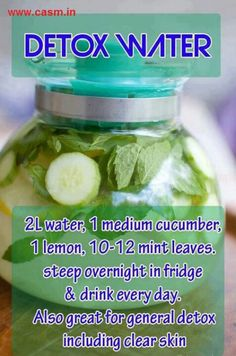 Detox water: add one lime