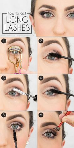 How gorgeous are these lashes? See how to make your lashes look longer with this makeup tutorial! #makeup #eyelashes