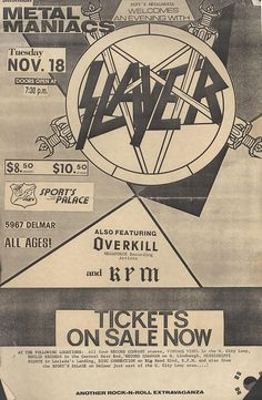Slayer and Overkill 1986