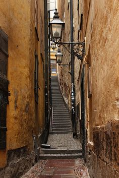 Alley of Old Town, Stockholm, Sweden