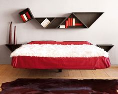 so cute! contemporary 'floating' beds with Nature's Sleep Memory Foam Mattress #NSPin2Win