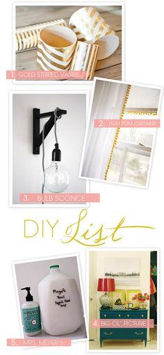 DIYs to try!