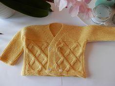 Casaquinho amarelo | Receitas de tricô