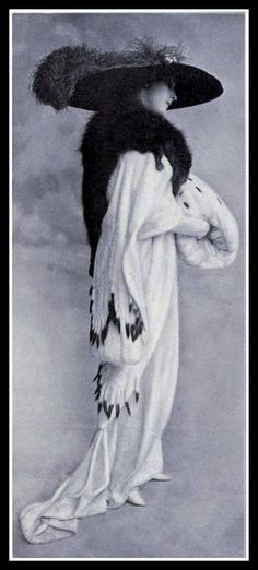 c1913. Ermine, fox, mink, wool and feathers!!!