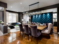 Love the bench with dining room table