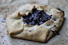 a rustic blueberrypie