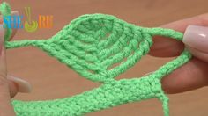 Complex Crochet Stitch Leaf Shape Picots Tutorial 23 Part 2 of 2 Tall Stitches  https://www.youtube.com/watch?v=fQ4KhRKKL5Y Learn how to crochet this beautiful complex stitch that is shaped like a leaf and consists of different tall crochet stitches and a picot on top of each tall stitch. To begin this complex stitch we work a sextuple treble with picot and then a quintuple treble stitch through the bottom loops of the previous sextuple treble post and again a picot.