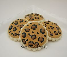 cake, cheetah print, print cooki, animal prints, decor sugar, cookies, leopard prints, cookie recipes, decor cooki