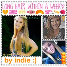 how to get longer hair within a week:) - Polyvore   This actually works and your hair grows a TON!!!