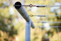 #Prepper #Homestead - Detail of how to build to build your own clothesline.