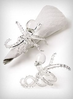 Octopus Napkin rings