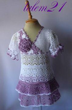 Crocheted Dress: Free Pattern & Tutorial  so girly!