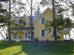 another side of farmhouse with board and batten siding