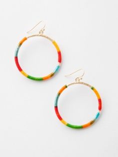 colorful thread-wrapped hoops