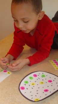 Peel  Stick – Letter Matching Game - pinned by @PediaStaff – Please Visit ht.ly/63sNtfor all our pediatric therapy pins
