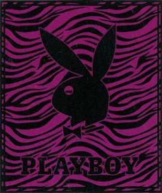 Playboy Logo Zebra Purple  Korean Mink Queen Size Blanket