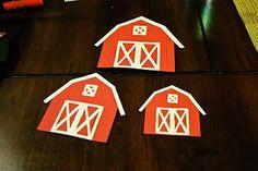"Barn Invitations - Uses Cricut ""Old West"" cartridge"
