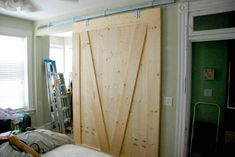 temporary wall dividers made from doors | credit: Boots[http://www.bootsandtotty.com/2010/06/nursery ...
