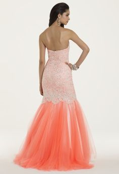 Tulle Lace Trumpet Skirt Prom Dress from Camille La Vie and Group USA