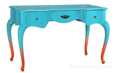 Ombre legs on a victorian desk. ombre, painted furniture, ombr leg, victorian desk, color combinations, table legs