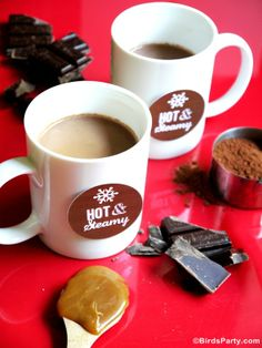 Quick and Easy Salted Caramel Hot Chocolate Recipe by Birds Party
