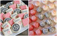Rustic + Elegant Bridal Shower Ideas - sweet treats with a message. #bridalshower #weddingideas
