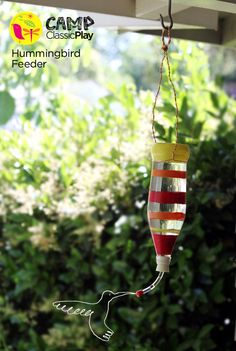 How to make a hummingbird feeder by Carla Wiking from Small + Friendly -  Fun Craft and easy to make!