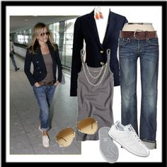 boyfriend jeans, jennifer aniston, cloth, closet, casual looks, casual outfits, outfits with blazers, rolled jeans outfit, outfit with blazer