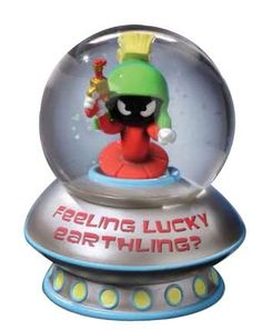 Looney Tunes Marvin the Martian Feeling Lucky Musical Water Globe