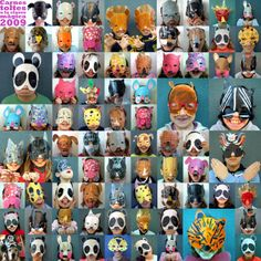 mascaras de animales con cartulina