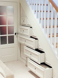 Storage in stairs.