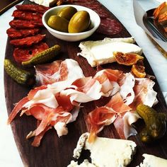 antipasto platter at a party