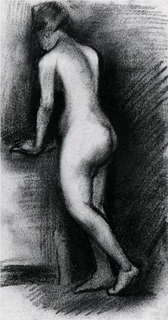 Female Nude, Standing - Vincent van Gogh 1886