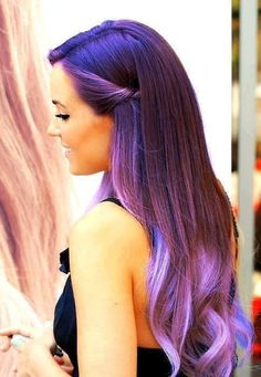 brown+hair+with+lavender+highlights | Purple Hair Don't Care « Read Less