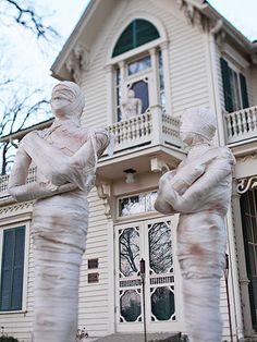 I need a mummy and a coffin for the front yard.