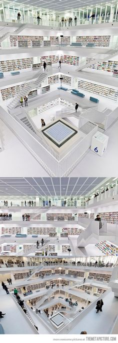 Amazing Library in Stuttgart City, Germany