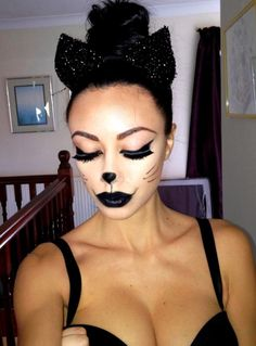 Halloween Cat makeup for Halloween party