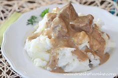 Crock-Pot Beef Tips & Gravy