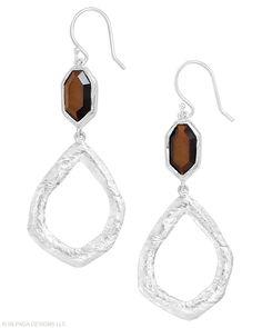 Jewelry Box by Silpada Designs   Earrings #sterlingsilver #tigereye #earrings #Silpada www.mysilpada.com/ann.burke