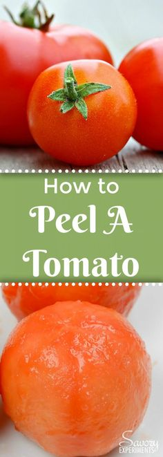 Learn how to peel a