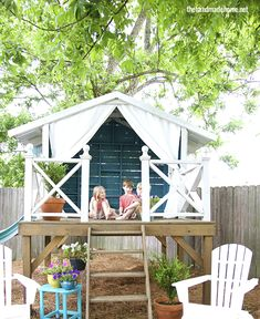 Awesome backyard playhouse.