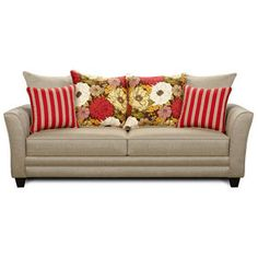 Stylish with great throw pillows that give that pop of color that makes a room!